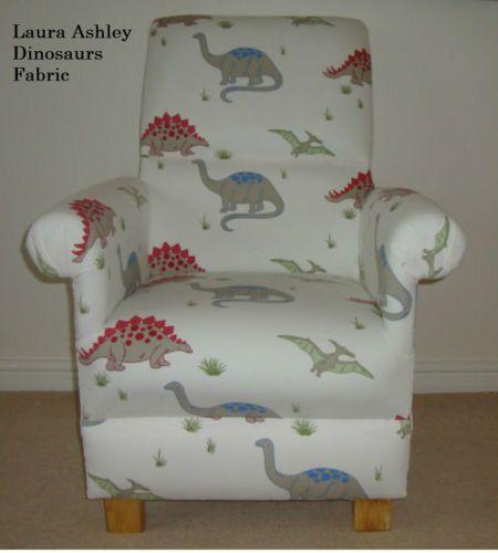 Laura Ashley Dinosaur Fabric Adult Chair by ChairsForCherub