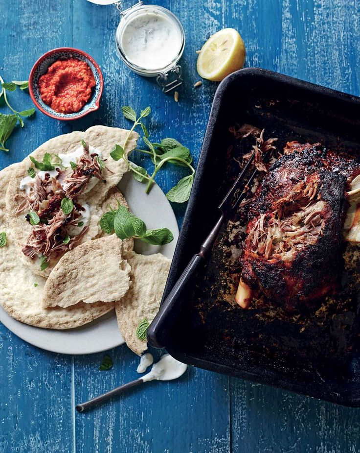 Slow-roasted lamb shoulder with harissa by Brent Owens from Dig In!