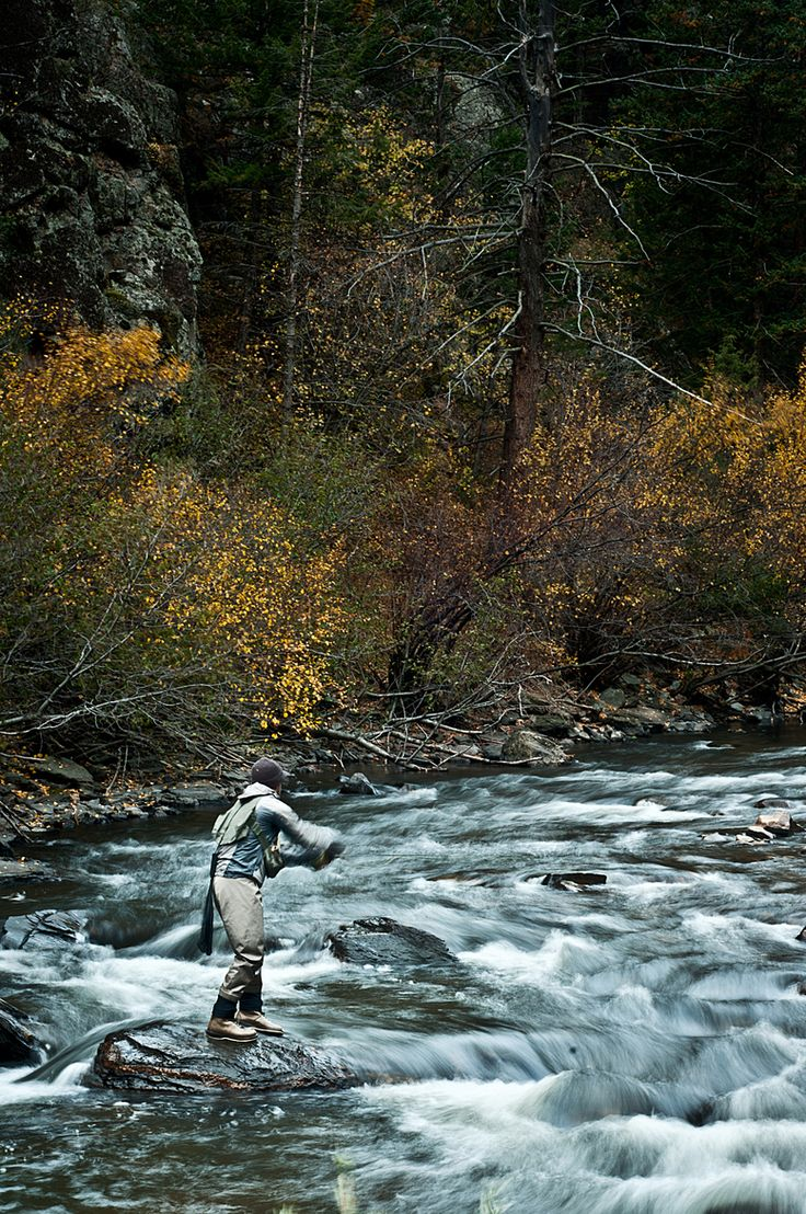 Fly Fishing the Big Thompson River, Colorado.. and I wouldn't have bothered with that current !