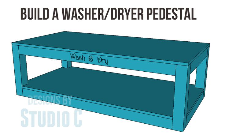 Free Plans to Build a Pedestal for a Washer & Dryer I did it… I broke down and bought a new washer and dryer. Admittedly, they were on their last legs – the dryer was taking at leas…