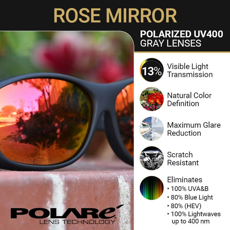 Polarized Rose Mirror Lens - Fit Over sunglasses