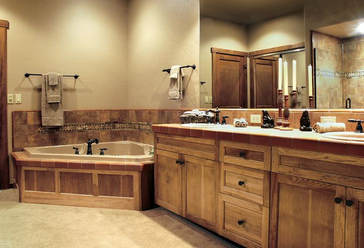 Best 25 rustic hickory cabinets ideas on pinterest - Rustic vanity cabinets for bathrooms ...