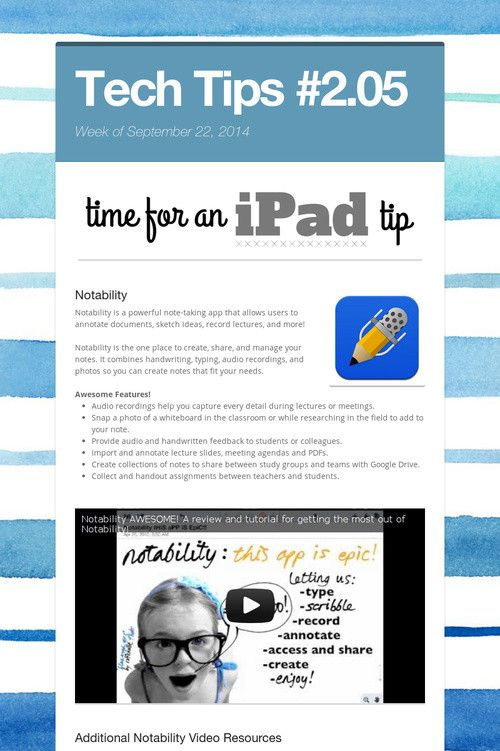 179 best images about ipads apps more on pinterest technology notability notability is a powerful note taking app that allows users to annotate documents sketch ideas record lectures and more ccuart Images