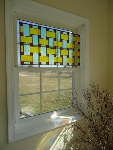 Hanging In Window Stained Glass Transom Window Suncatcher Panel