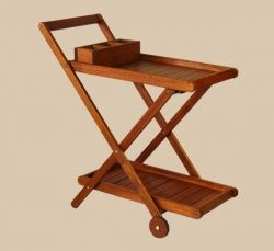 lovely drinks trolley.... perfect for the pool or braai area and so easy to move around.
