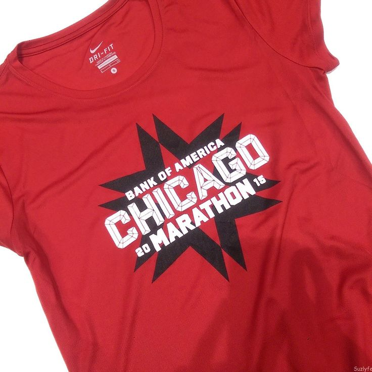 2015 Bank of America Chicago Marathon official race shirt by Nike. Read more about the race at Suzlyfe.com!