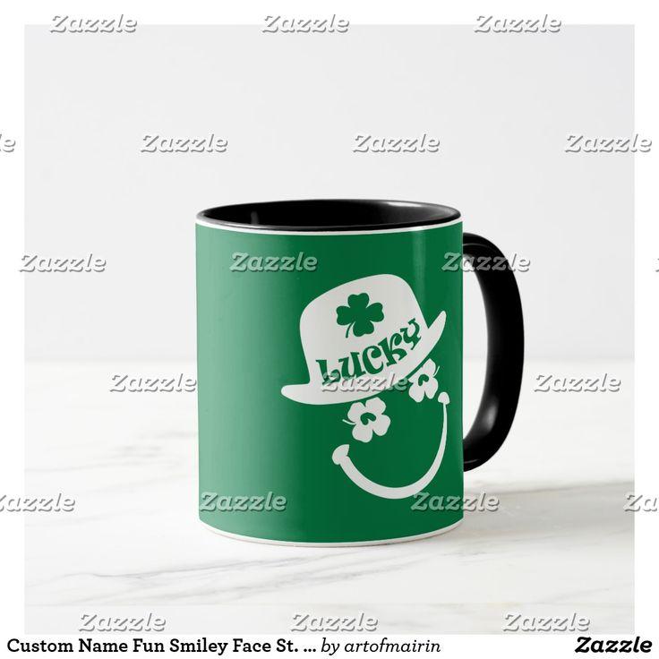 Custom Name Fun Smiley Face St. Patrick's Day Mugsst patricks day decorations, st patricks day crafts, st patricks day, st patricks day party, st patrick's day ideas, st. patrick's day activities, t shirts #saint #saintpatricksday #stpatricksday #design #trend #saintpatricksday2018 #patricks #greenday #stpatricksday2018 #style #StPatricksFest #SaintPatricksDay #saint #shamrock #StPatricksDayShirt #muglife #mugs #mug #pillows #pillows #coffee