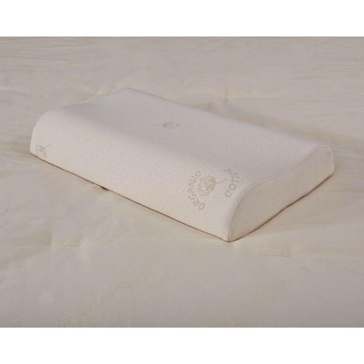 Bio Sleep Concept Organic Cotton Hypoallergenic Contouring Latex Foam Pillow