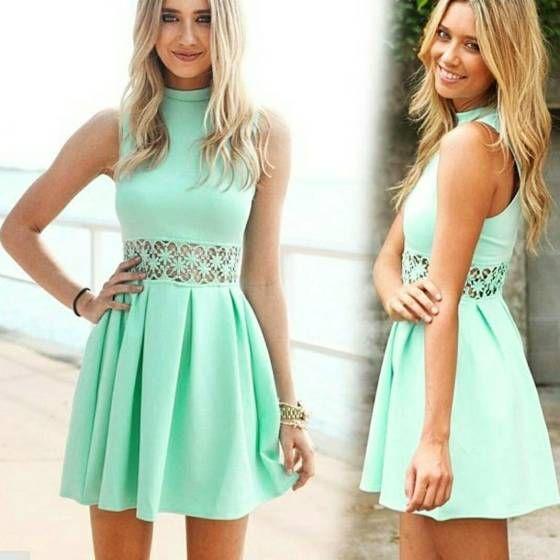 Shopo.in : Buy Sleeveless Net Patch Skirt Dress online at best price in New Delhi, India