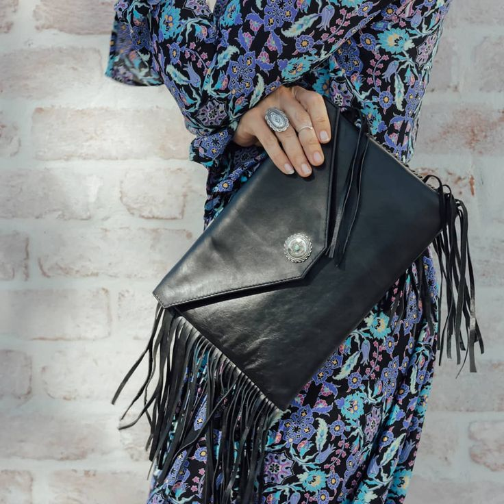 """44 Likes, 3 Comments - HASEYA Bohemian Leather (@haseya_leather) on Instagram: """"△ LONE MOUNTAIN CLUTCH △ Perfect for heading out on a Saturday night.  #haseya #haseyaleather #boho…"""""""