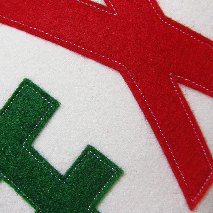 Closer look at #Xmas pillow www.wepillow.com