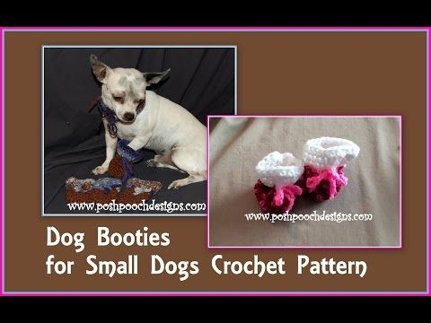 Posh Pooch Designs Dog Clothes: Dog Bootie Pattern for Those little Paws