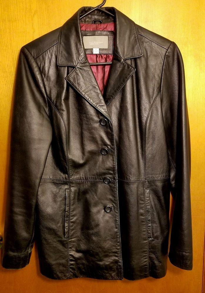b52513803 Women's Croft & Barrow Black Lambskin Leather Jacket Coat M ...