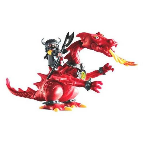 playmobil 3327 chevalier dragon rouge