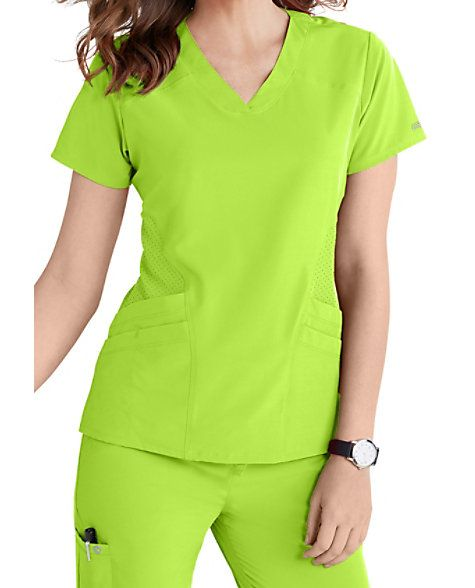 IT'S ALL IN THE POCKETS With five roomy pockets at the ready—including one split media pocket for your phone or other electronics—this sporty Barco One V-neck scrub top will never let you down. On the fashion front, it's teeming with details like shaped, perforated front and back panels, princess seaming and attractive logo details. Barco One 5-pocket Sporty V-neck Scrub Tops V-neck 5 pockets: 4 front pockets, 1 split media pocket Modern fit Princess seaming with fitted ...
