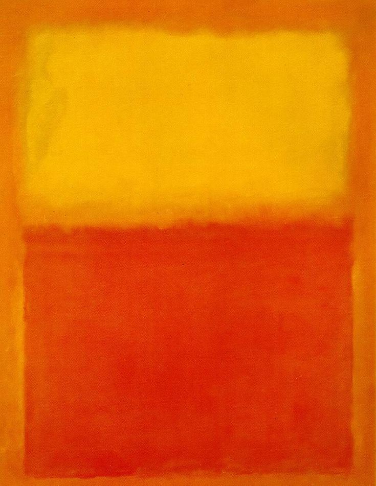 Orange and Yellow Mark Rothko Painting