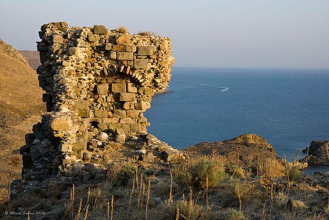 Eressos Akropolis site, Skala Eressou, Lesvos, Greece