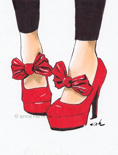Fashion Illustration Shoes Illustration Shoe by worksbyannahammer