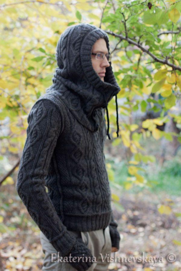 ekaterinavish: Стильный мужской свитер + снуд и митенки