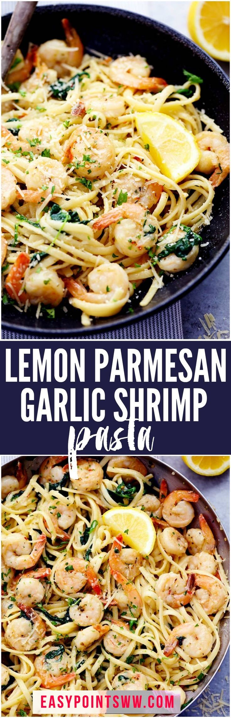 WEIGHT WATCHERS ONE POT LEMON GARLIC SHRIMP PASTA ♥