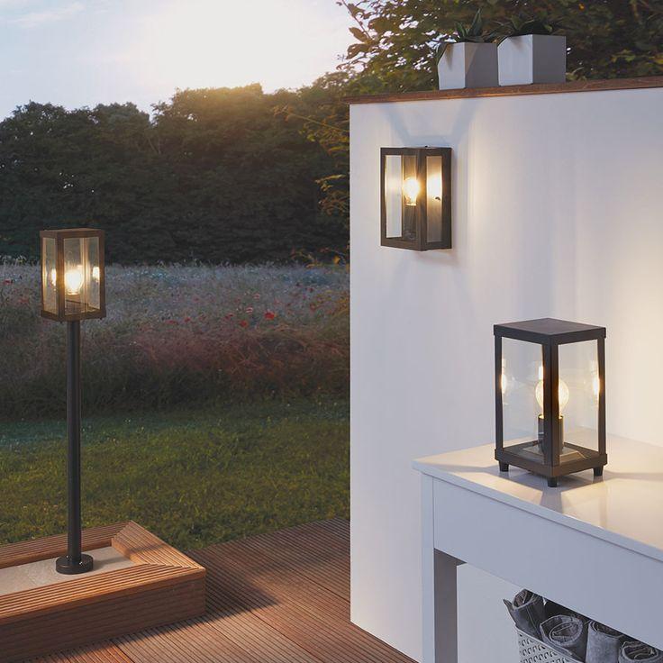 Alamonte 1 er en serie utelamper fra Eglo med enkel og populær design. Lampene er stilrene og utført i sort galvanisert stål med klart glass. Serien vil kunne dekke hele ditt behov for å lyssette hage og uteplass, og består av stolpe, hengende taklampe, plafond, vegglampe og bordlampe.