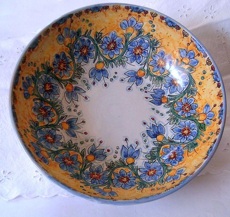 Ciotola/ Insalatiera / Spaghettiera in ceramica.Dipinta a mano., by ilciliegio, 25,00  su misshobby.com