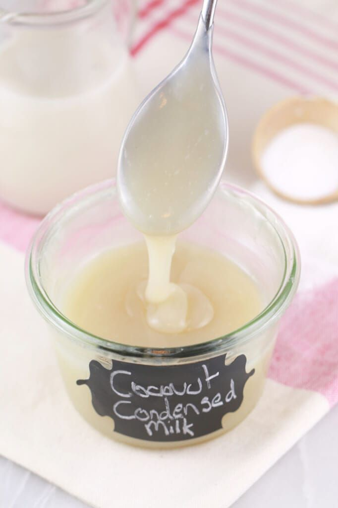 Learn how to make dairy free condensed milk with coconut milk or any nut milk which is an easy way to make condensed milk for my baking recipes