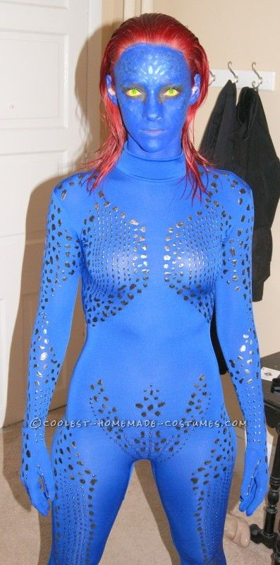 Sexy Homemade Mystique Costume from X,Men.