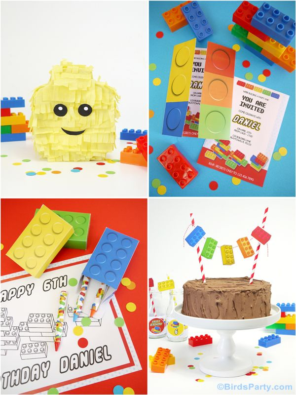 Bird's Party Blog: Lego Inspired DIY Birthday Party Ideas & NEW Collection in-store !!