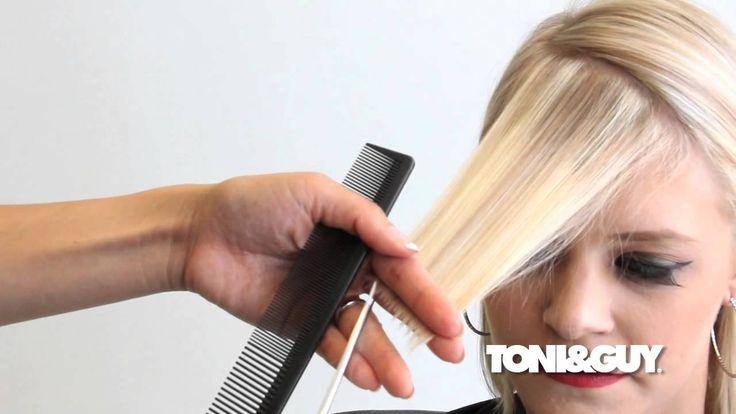 How to Cut an Asymmetrical Fringe - YouTube