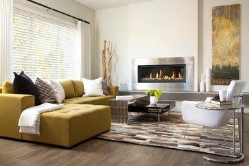 New Showhomes! (Calgary + Edmonton) - contemporary - Living Room - Edmonton - Sabal Homes. http://www.regency-fire.com/Products/Gas/Contemporary-Gas-Fireplaces/HZ54E.aspx