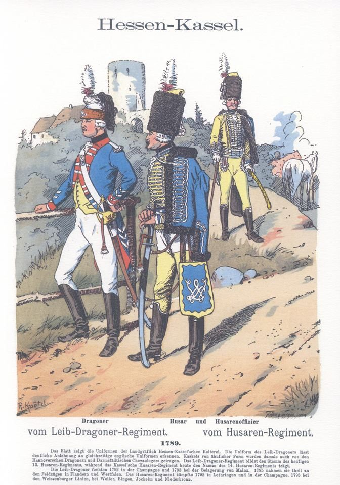 Band I #20 -  Hessen-Kassel. Leib-Dragoner-Regiment. Husaren-Regiment. 1789