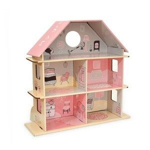 dollhouse green in recycled paper