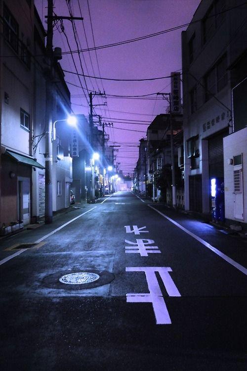 cityneonlights ' Tomare ' (stop) street sign,Japan