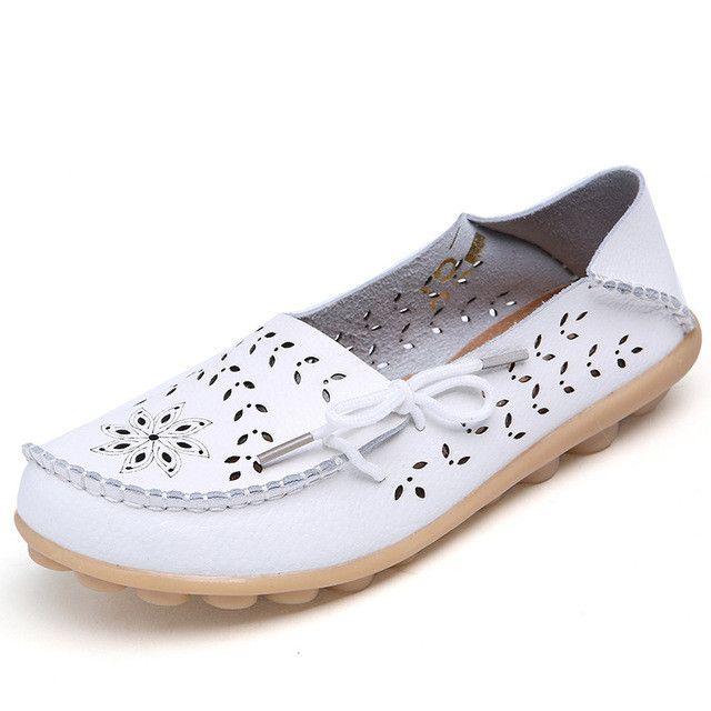 Top Sale 2017 Women's Flats Shoes Women Ballet Flats Ladies Shoes Slip on Ballet Flats 9 color Genuine Cow Leather Shoes F9113W