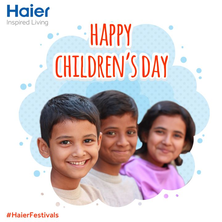 ‪#‎HaierIndia‬ wishes you all a very ‪#‎HappyChildrensDay‬!