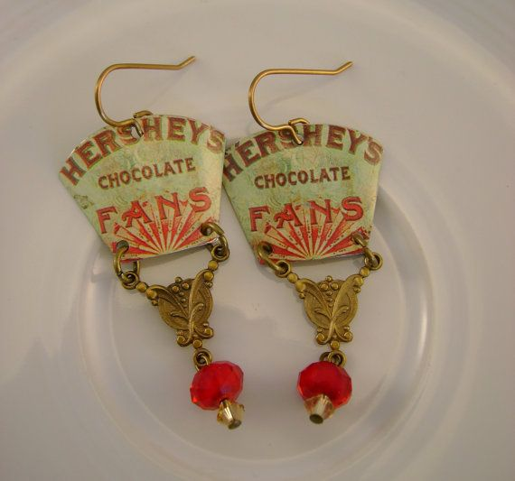 Chocoholic Vintage Hand Cut Hershey's Chocolate by NoobooDesigns