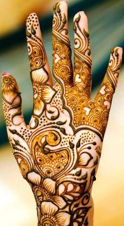 Cute Arabic Mehndi Designs for Hands for wedding