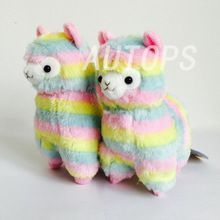 17cm Rainbow 1* Alpaca Vicugna Pacos Plush Toy Japanese Soft Plush Alpacasso Baby Plush Stuffed Animals Alpaca Gifts(China (Mainland))
