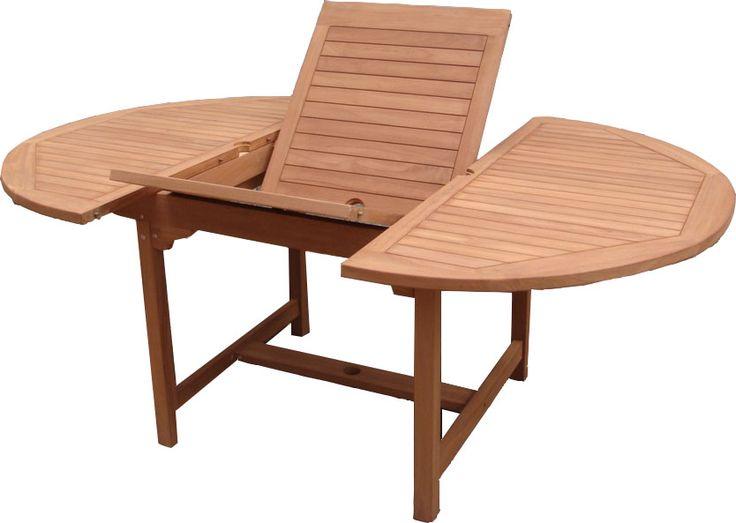 Teak tafel tuintafel 120_170w120d cm Engels Oval rond uitschuifbaar naar 170 cm