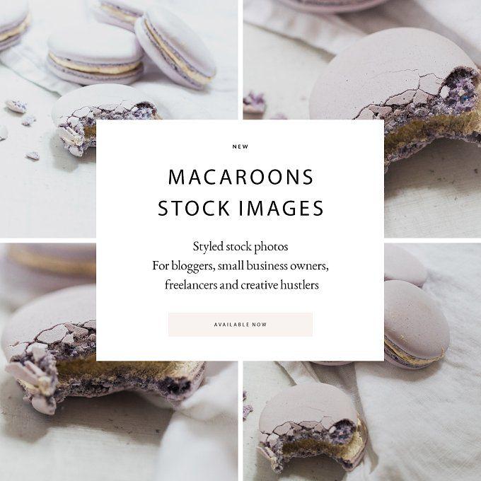 SALE! Stock Photos Lilac Macaroons 5 by Petra Veikkola on @creativemarket