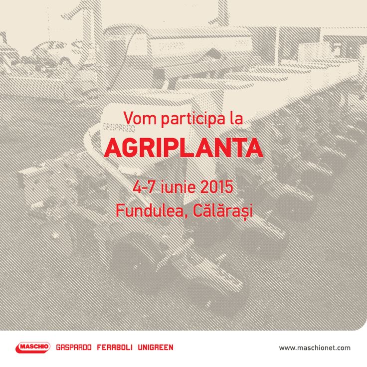 Peste câteva săptămâni, vă așteptăm la AgriPlanta, unul din cele mai mari târguri de agricultură care reunește cei mai importanți producători și distribuitori de produse, mașini și utilaje agricole.