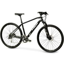 Bike Town - BICICLETAS / Híbrida-Urbana / Bicicleta Trek 8.4 DS Híbrida Urbana Aro 700c 2015 - Shimano New Acera & Alivio 27vel - Preta e Branca - Trek - VENDAS SÓ LOJA FÍSICA