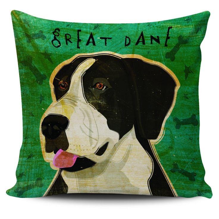 Pillow Cover - Great Dane Portrait