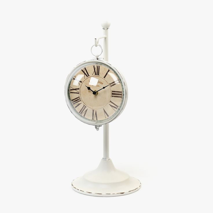 Relógio de Mesa Metal Branco II | referência 74073191 | A Loja do Gato Preto | #alojadogatopreto | #shoponline