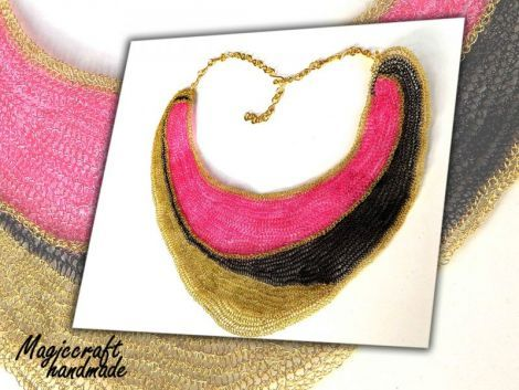 CONTRASTS - ASYMMETRICAL BIB NECKLACE