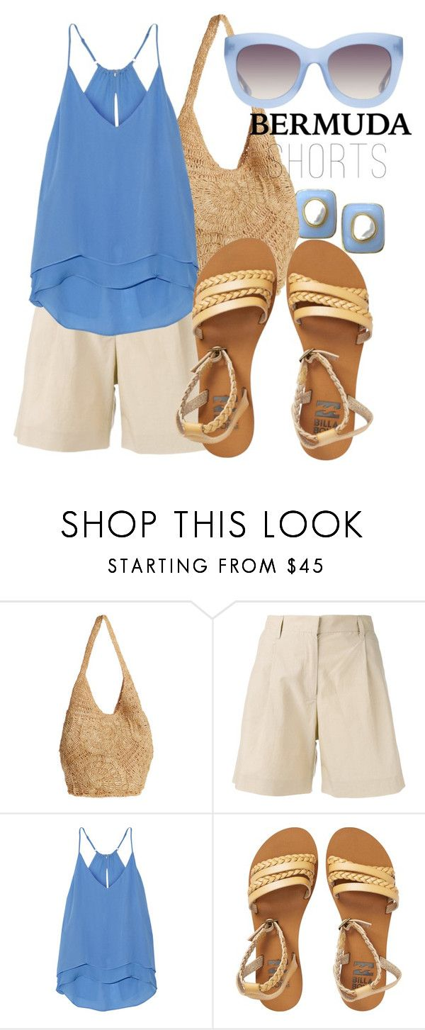 """Bermuda Shorts"" by i-love-shoes ❤ liked on Polyvore featuring Flora Bella, MASSCOB, Chelsea Flower, Billabong and Alice + Olivia"