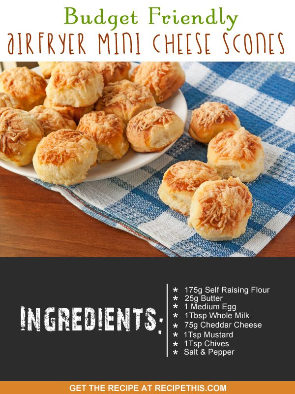 Airfryer Recipes | Budget Friendly Airfryer Mini Cheese Scones