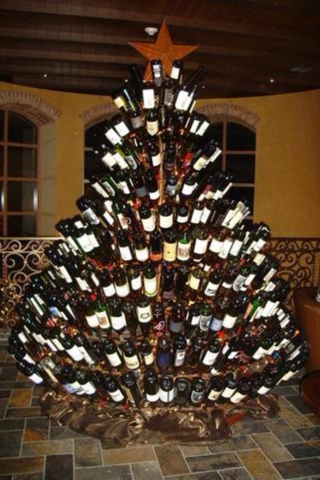 Want one .... Lol: Xmas Trees, I Win, Favorite Things, Letters Templates, Wine Christmas, Wine Bottle Trees, Wine Trees, Christmas Trees, Bottle Christmas