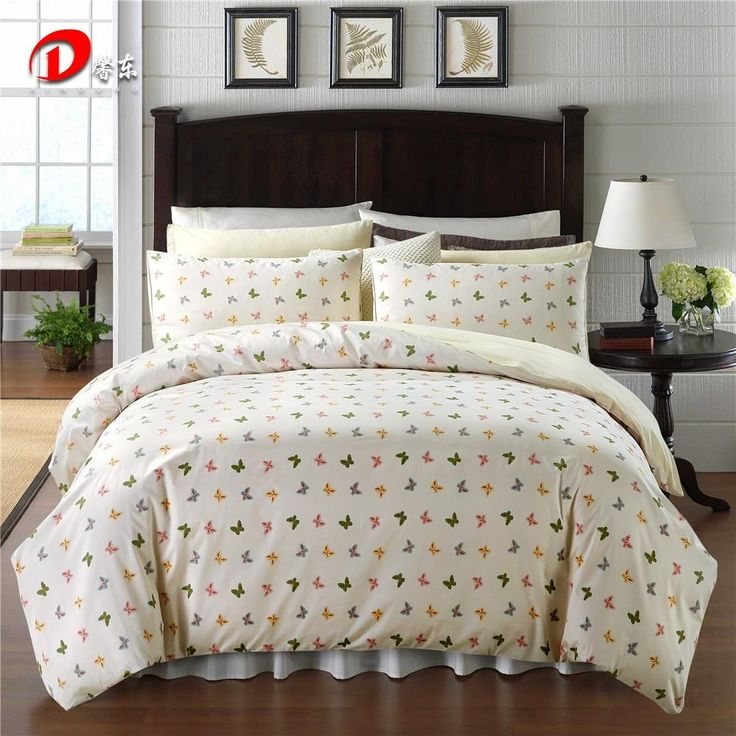 colorful butterfly satin bed set luxury egyptian cotton bedding set king queen size high quality bed